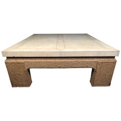 Vintage Modern Square Coffee Table