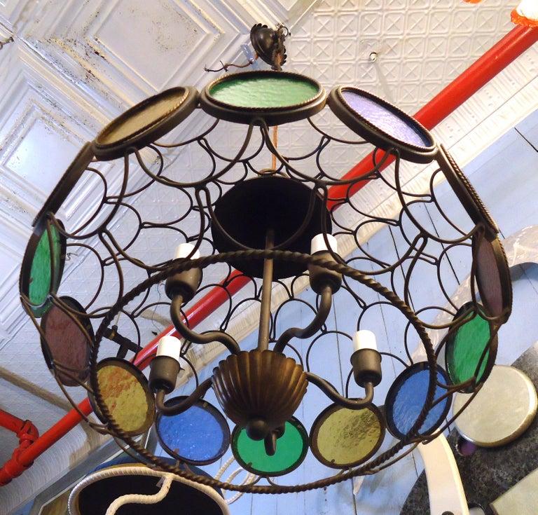 Mid-Century Modern Vintage Modern Three Globe Chandelier For Sale
