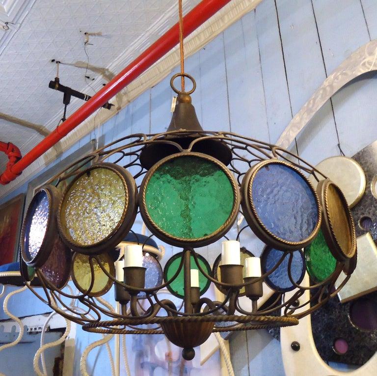 Vintage Modern Three Globe Chandelier For Sale 1