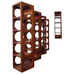 Vintage Modern Wall Hanging Wine Racks