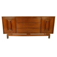 Vintage Modern Walnut Credenza or TV Console