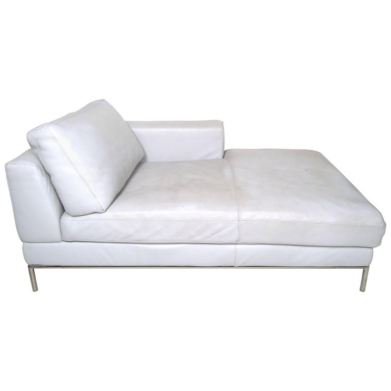 Vintage Modern White Settee For Sale