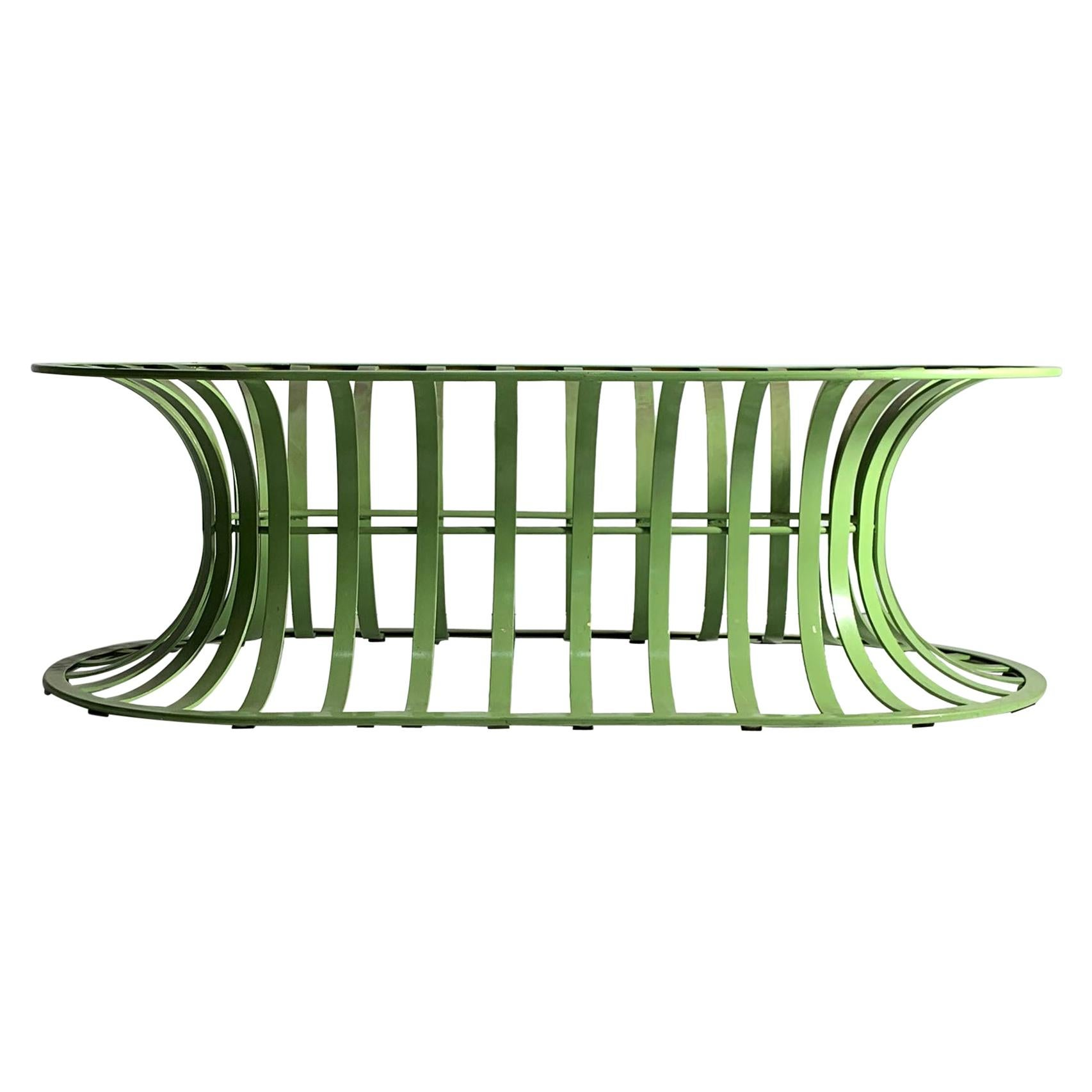 Vintage Modern Woodard Bench / Coffee Table in Lime