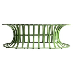 Vintage Modern Woodard Bench / Coffee Table in Lime