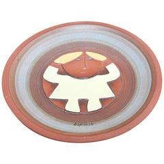Vintage Modernist Abstract Susana Espinosa Studio Art Pottery Plate Puerto Rico