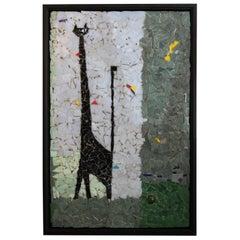 Vintage Modernist Black Cat Mosaic