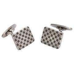 Vintage Modernist Georg Jensen Checkerboard Cufflinks