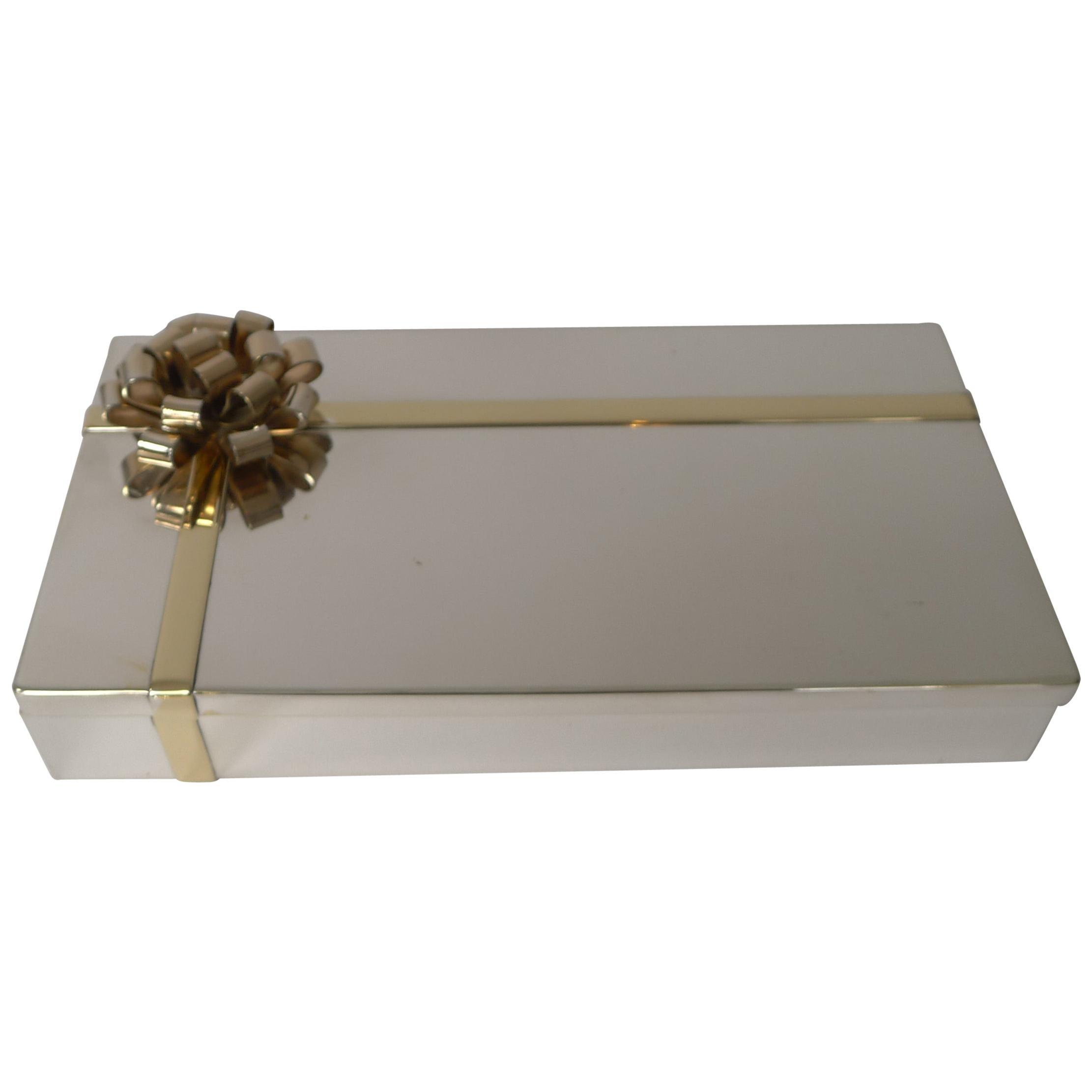 Vintage Modernist Silver and Gold-Plated Box by Egidio Broggi, Milan