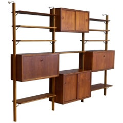 Vintage Modular Wall Unit in Teak by William Watting, 1960s
