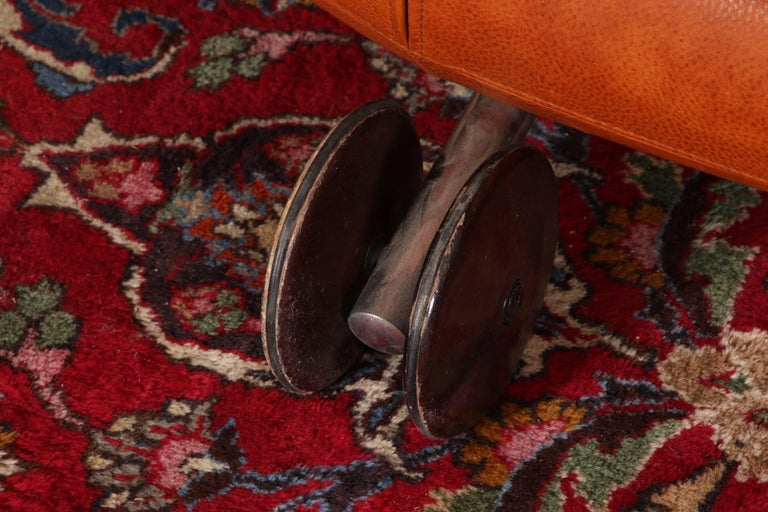 Vintage Molinari Tobacco Leather Sofa For Sale 7