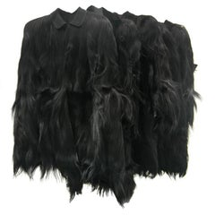 Vintage Monkey Fur Jackets for Assembly into a Throw Blanket