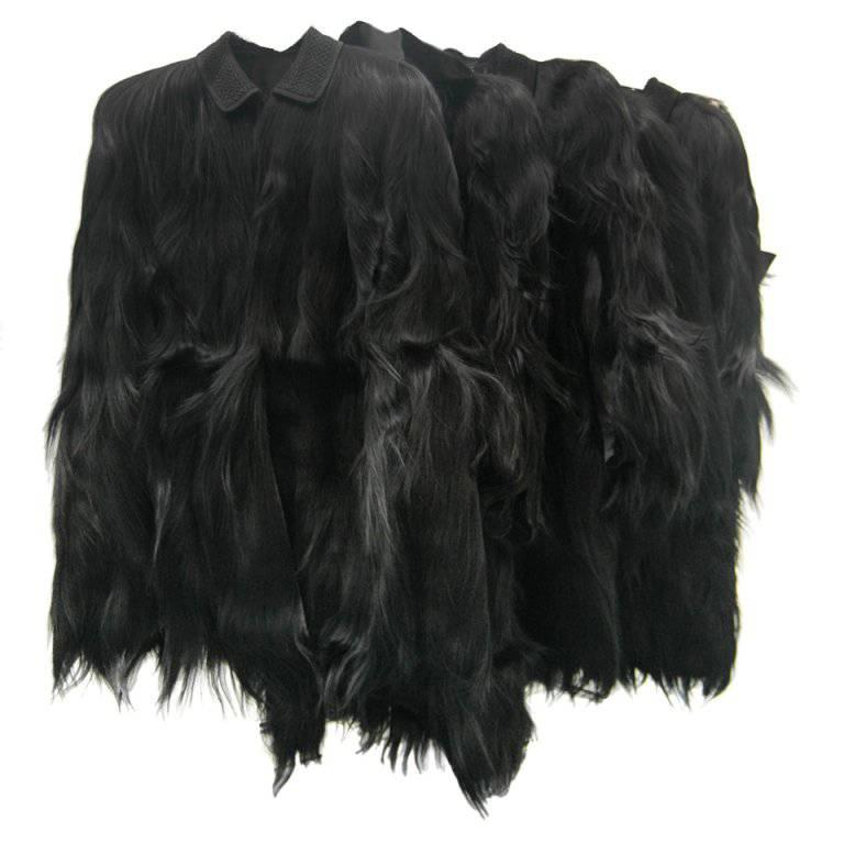 Vintage Monkey Fur Jackets for Assembly into a Throw Blanket For Sale