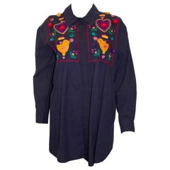 Vintage Monsoon Cotton Top with Embroidery