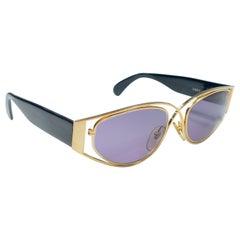 Vintage Montana 5583 Sleek Gold & Black Handmade in France Sunglasses 1990