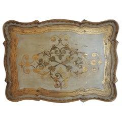 Vintage Monumental Florentine Gold Serving Tray