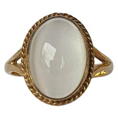 Vintage Moonstone and 9 Carat Gold Ring