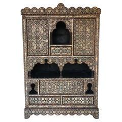 Vintage Moorish Inlay Cabinet