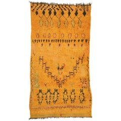 Vintage Moroccan Ait Bou Ichaouen Talsint Rug with Tribal Style