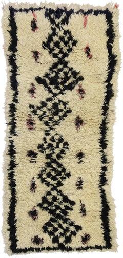 Vintage Moroccan Azilal Rug, Berber Boucherouite Rug