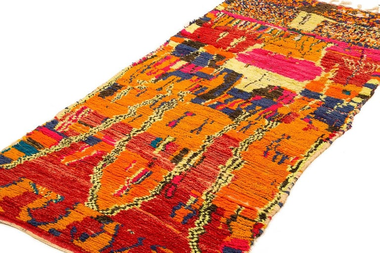 Tribal Vintage Moroccan Azilal Rug For Sale