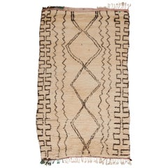 Vintage Moroccan Azilal Rug - Neutral, Cream, Brown