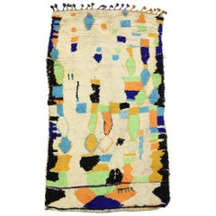 Vintage Moroccan Azilal Rug with Expressionist Style Inspired by Paul Klee