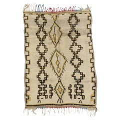 Vintage Moroccan Azilal Rug with Rustic Bohemian Tribal Style