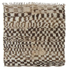 Vintage Moroccan Azilal Tribe Berber Rug