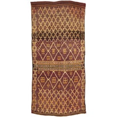 Vintage Moroccan Beni M'Guild Rug with Modern Bohemian Style