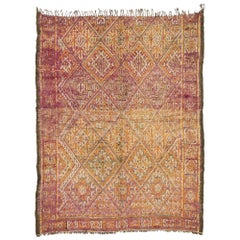 Vintage Moroccan Beni M'Guild Rug with Tribal Vibes and Bohemian Hygge Style