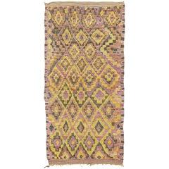 Vintage Moroccan Beni Mguild Tribe Berber Rug