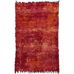 Vintage Moroccan Beni Mguild Wool Rug