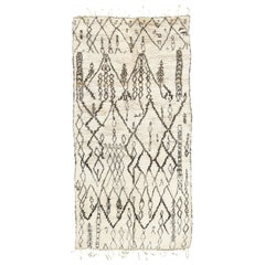 Vintage Moroccan Beni Ourain Tribe Berber Rug