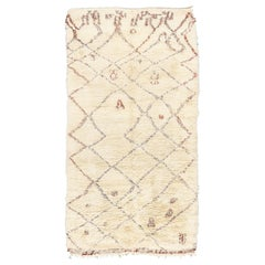 Vintage Moroccan Beni Ourain Tribe Rug