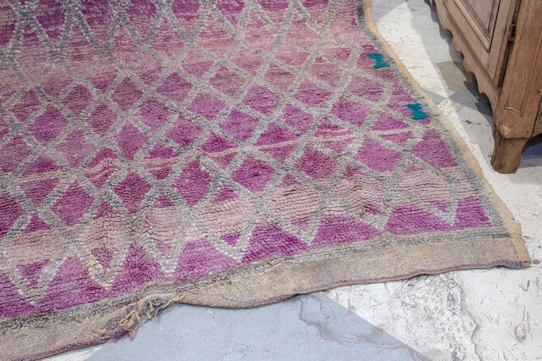 20th Century Vintage Moroccan Beni'mguild Double-Sided Berber Rug For Sale