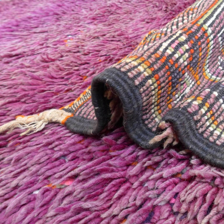 Hand-Woven Vintage Moroccan Berber Rug For Sale