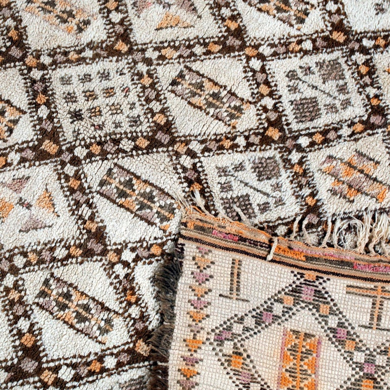 Vintage Moroccan Berber Rug with Henna Accents For Sale 3