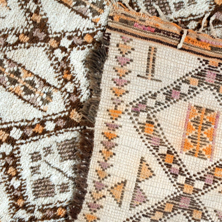Vintage Moroccan Berber Rug with Henna Accents For Sale 4