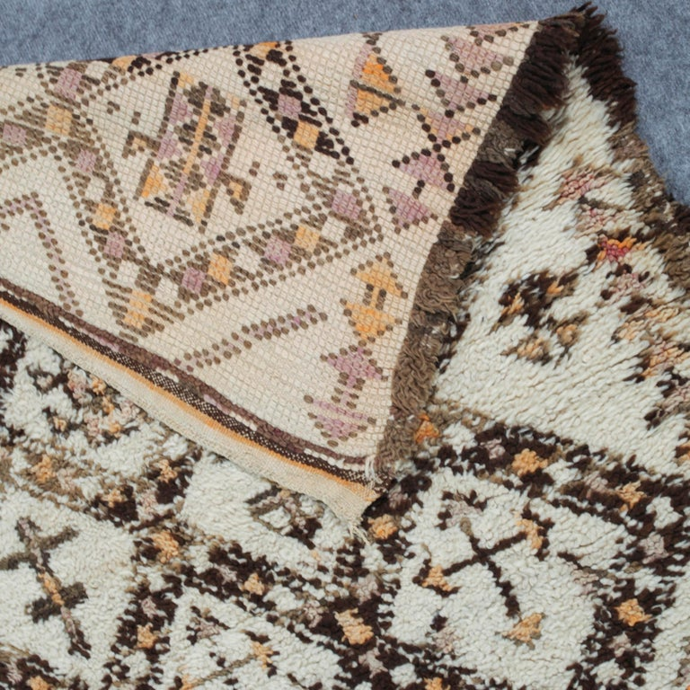 Tribal Vintage Moroccan Berber Rug with Henna Accents For Sale