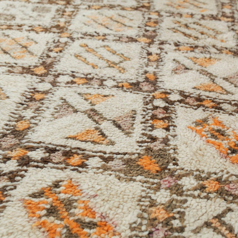 Vintage Moroccan Berber Rug with Henna Accents For Sale 1