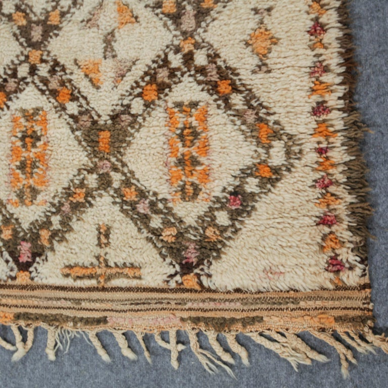 Vintage Moroccan Berber Rug with Henna Accents For Sale 2