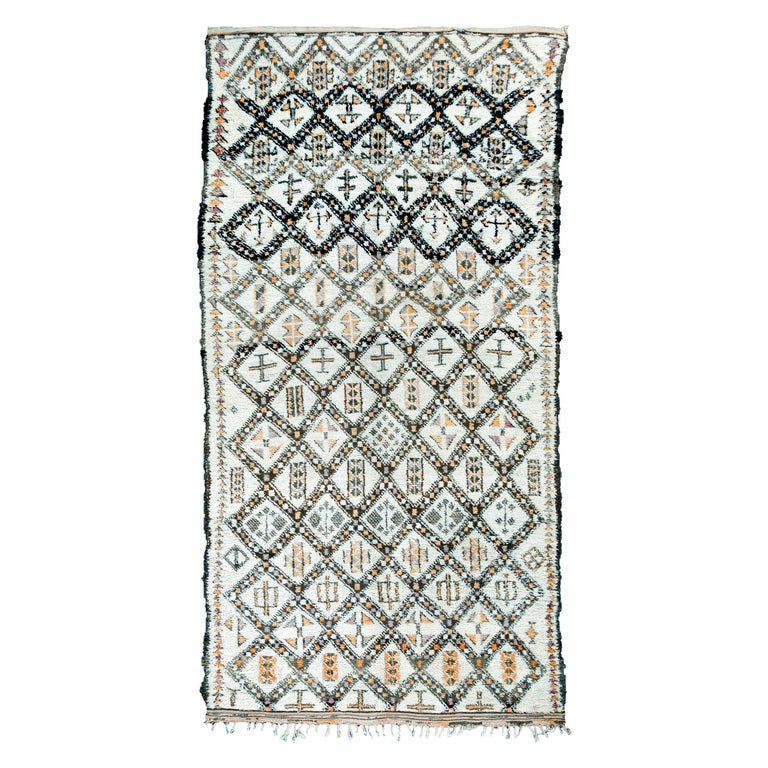 Vintage Moroccan Berber Rug with Henna Accents For Sale