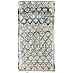 Vintage Moroccan Berber Rug with Henna Accents