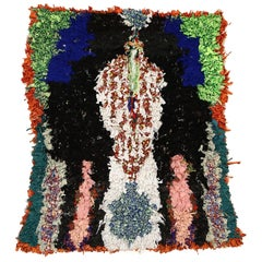 Vintage Moroccan Boucherouite Berber Prayer Rug