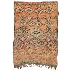 Vintage Moroccan Boujad Rug, Blush Bohemian