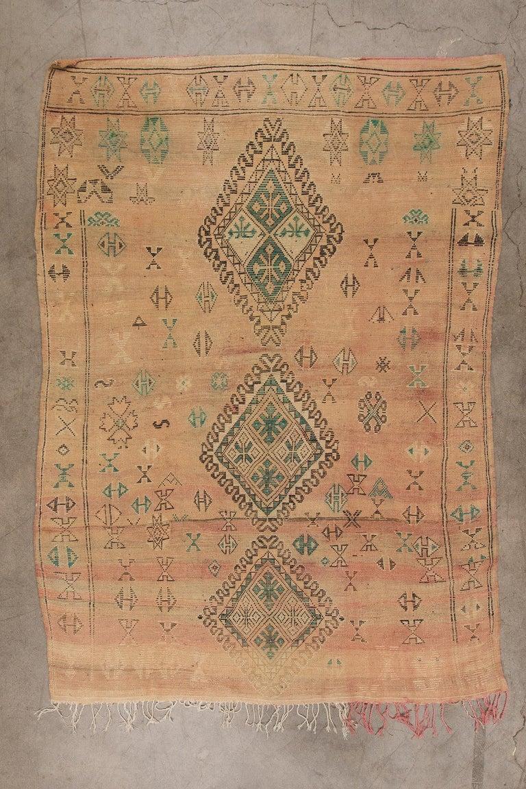 Vintage Moroccan Boujad Rug, Bohemian 3