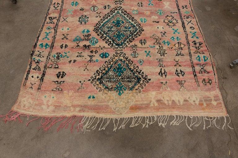 Tribal Vintage Moroccan Boujad Rug, Bohemian