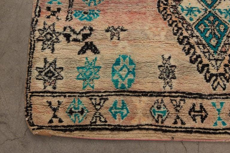 20th Century Vintage Moroccan Boujad Rug, Bohemian