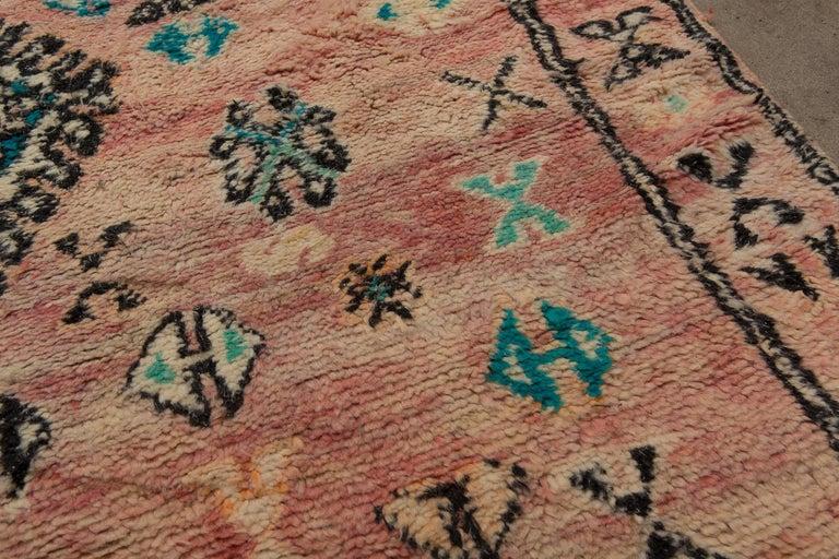 Wool Vintage Moroccan Boujad Rug, Bohemian