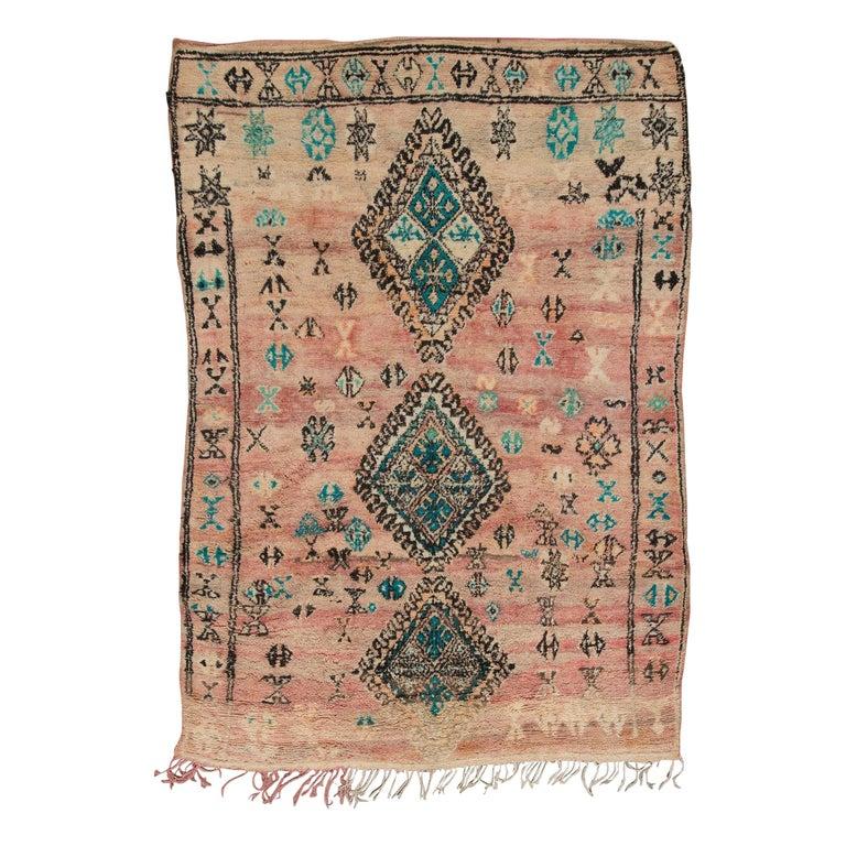 Vintage Moroccan Boujad Rug, Bohemian
